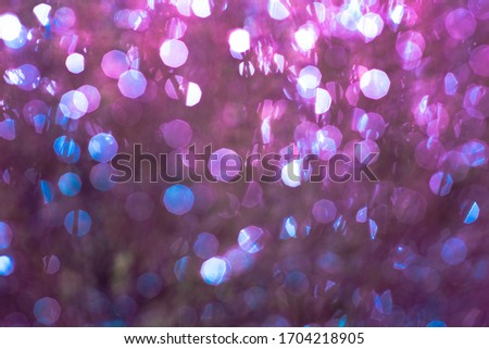 Background blue motion light defocused bokeh lights Abstract Particle glowing loop Background diamonds reflection brilliance rainbow lots dots abstract Color year violet Ultra Water slow drops K #1704218905
