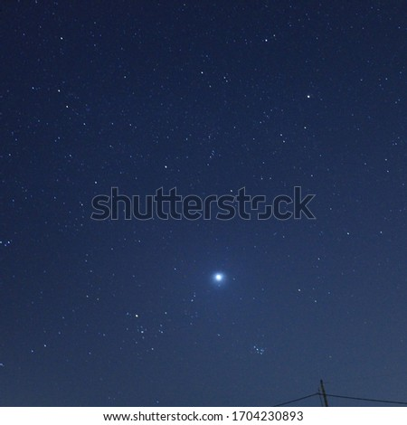 Landscape of space , Venus is the brightest star. #1704230893