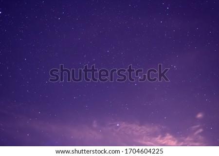 The night sky is full of stars.