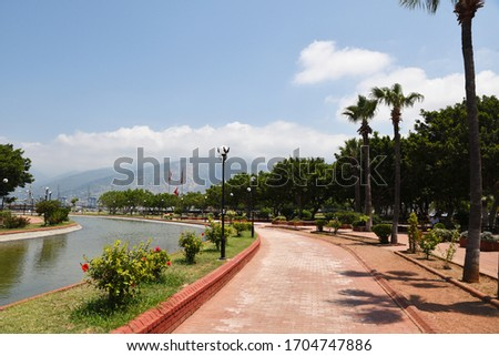Hatay / Turkey / 04. 07.2018: City and beach view from Hatay iskenderun #1704747886