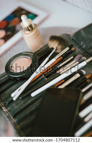 cosmetic set, brushes for applying cosmetics, set of beautician, makeup artist #1704807112