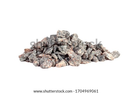 Crushed stone abstract textured background. The rough texture of the stone. Building material background Royalty-Free Stock Photo #1704969061