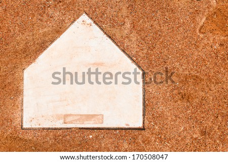 Home plate on a baseball field with room for copy #170508047