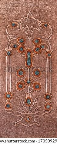 Copper Door Surface, Copper Craft, Copper Pattern Processing flourish pattern, copper surface, antique door #1705092901