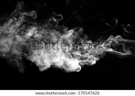 Movement of white smoke.