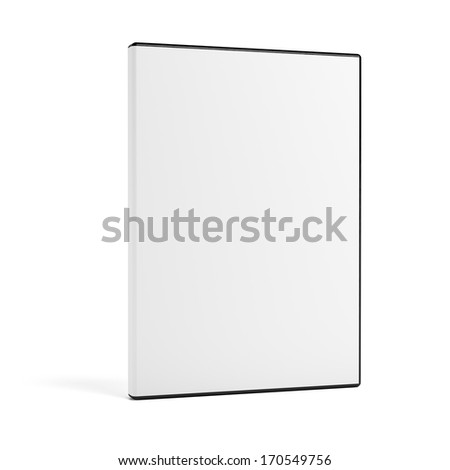 Blank DVD case isolated on white #170549756