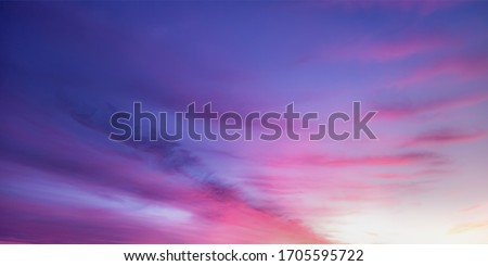 Sunrise Sunset Sky with Clouds Royalty-Free Stock Photo #1705595722