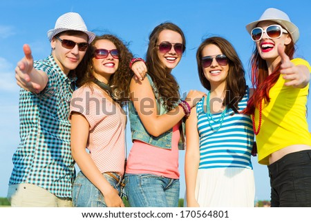 Image of young people having fun. Summer vacation #170564801