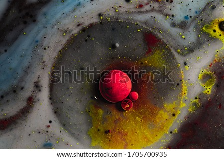 Abstract photography of bubbles. Macro world. Creative art photography.