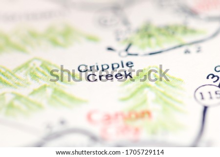 Cripple Creek. Colorado. USA on a geography map. #1705729114