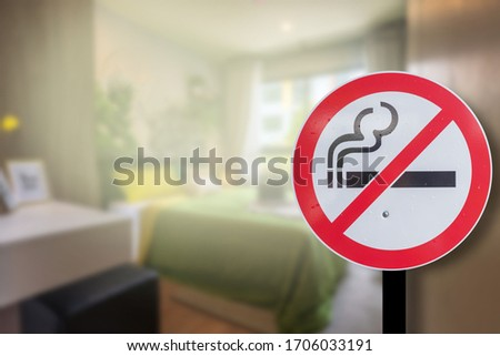 No smoking in the house. Separated from the background
