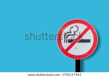 No smoking Separated from the background