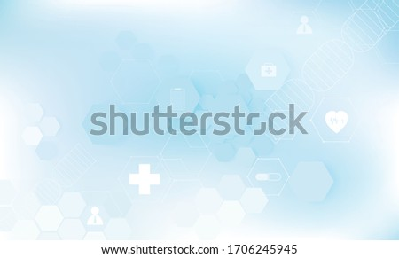 Geometric symbol background In blue tones (medical)