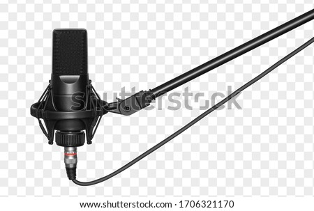 microphone isolated with clipping path. Condencer Mic for studio recording voice. #1706321170