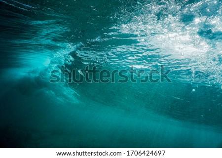Underwater shooting at Famara beach