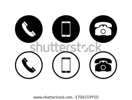 Phone icon, Call icon, smartphone icon vector design #1706559910