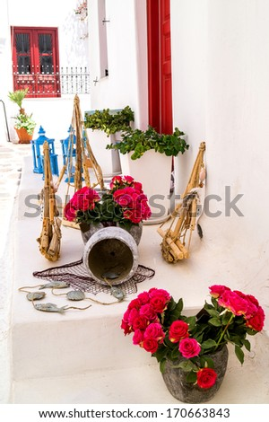 Detail image from a greek touristic shop on Mykonos island, Greece #170663843