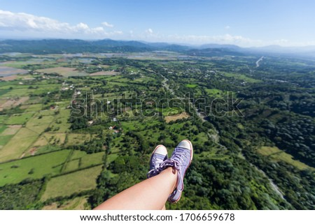 paragliding, snickers shoes, enjoyment, outdoors, mountains, aerial, risk, action, rock, glider, flight, gliding, leisure, adrenaline, high, fly, active, activity, air, extreme, parachute, legs, hill, #1706659678