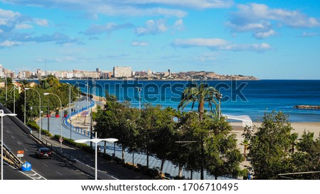 A view of the beach from the mountain in Alicante #1706710495