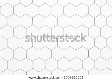 Hexagon ceramic tiles made for flooring, back splash or showers / bath tubs. #1706812201