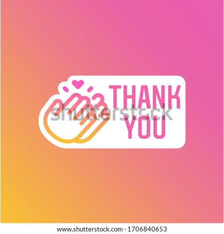 Instagram Stories Thank You Hour Sticker, Icon and Button #1706840653