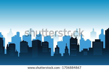 Background in the downtown with blue sky Royalty-Free Stock Photo #1706884867