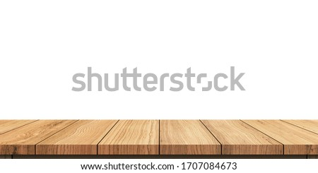 Isolated wooden shelf or floor texture on white background. Concept design use for architecture, interior, decorate, advertisement or presentation display products. Shelf or floor with clipping path #1707084673