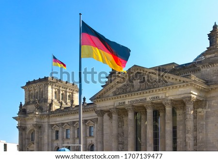 Parliament building in Berlin, Germany Royalty-Free Stock Photo #1707139477