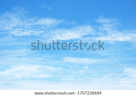 Blue sky background with white clouds #1707238684