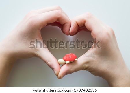hand making heart symbol for love #1707402535
