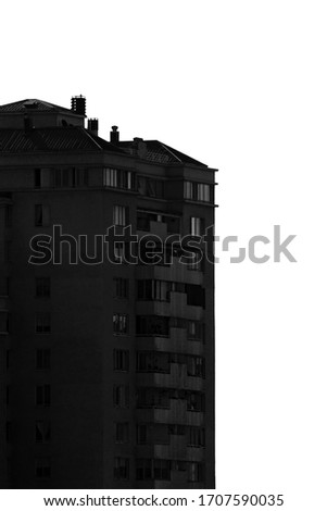 black and white city buildings #1707590035