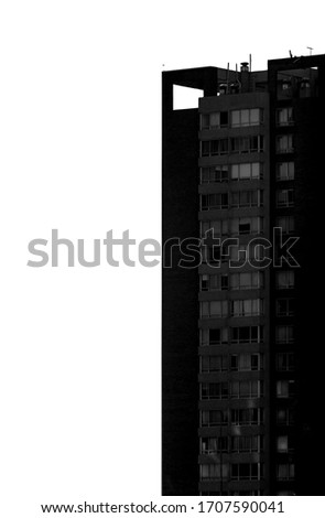 black and white city buildings #1707590041