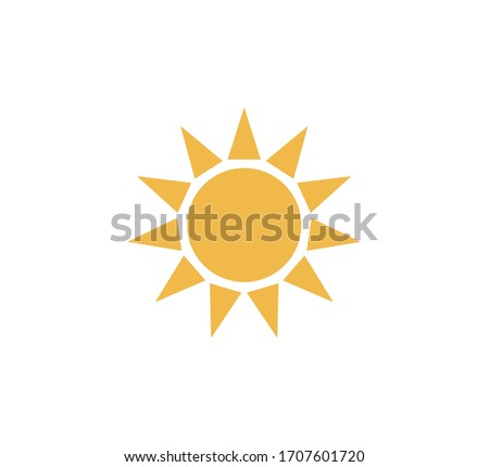 Sun icon. Trendy vector summer symbol for website design,