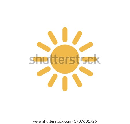 Sun icon. Trendy vector summer symbol for website design,