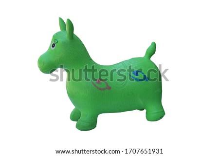 plastic bouncy horses for children and children development,isolate