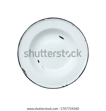 Iron plate isolate on white background, clipping part #1707724360