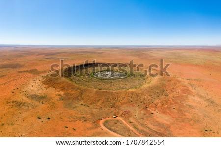 Wolfe Creek Meteorite crater in Western Australia Royalty-Free Stock Photo #1707842554