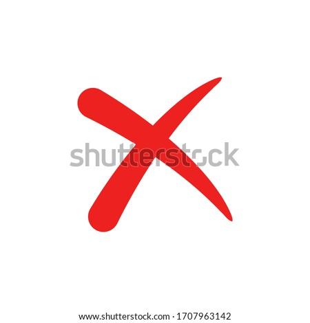 Cross icon flat vector design, cancel symbol.