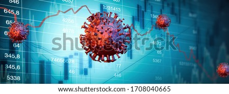 stock market crash - bull market  (3D Rendering) #1708040665