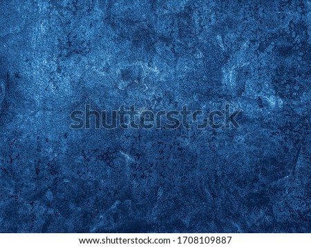 Beautiful Abstract Grunge Decorative Navy Blue Dark Stucco Wall Background. Art Rough Stylized Texture Banner With Space For Text #1708109887