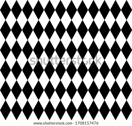 Seamless pattern of diamonds combine with magic show with hat wand rabbit stars, graphic retro kids fabric, background illustration vector