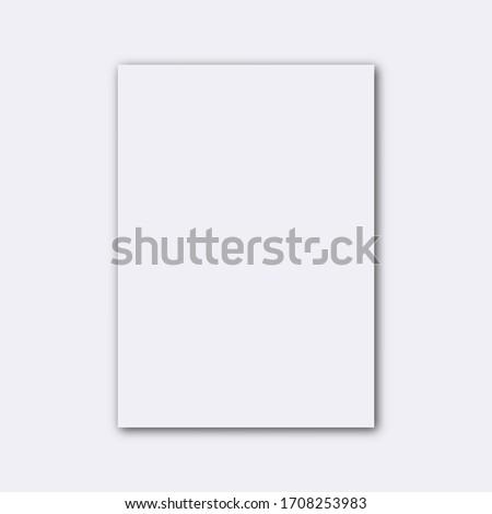 blank empty white paper sheet mockup vector illustration #1708253983