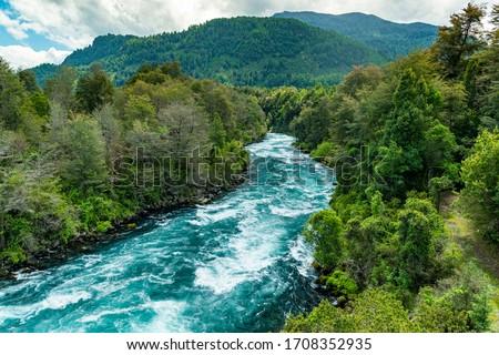 River Fui, Panguipulli, Valdivia, Los Rios, Chile on November 8, 2015. Chilean Patagonia. #1708352935