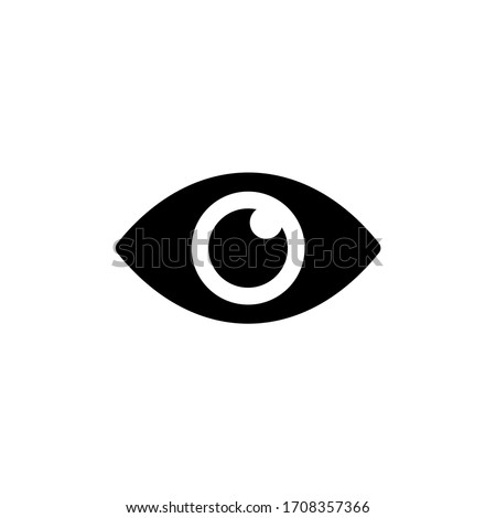 Eyes icon vector. Vision icon symbol isolated Royalty-Free Stock Photo #1708357366