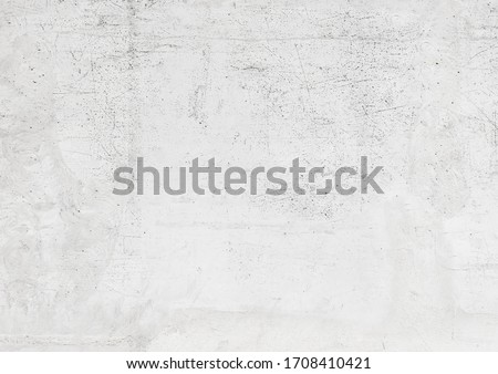 White old concrete wall texture, abstract gray cement scratched building background #1708410421