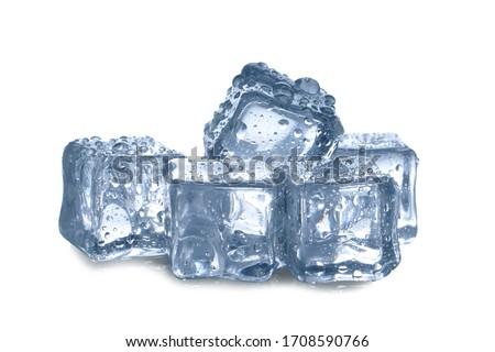 ice cubes on white background #1708590766