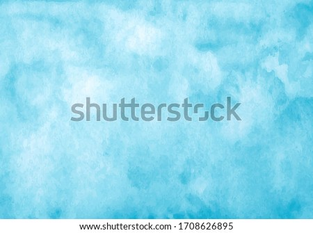 Blue watercolor vector background. Abstract hand paint square stain backdrop #1708626895
