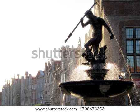 Neptune's Fountain is a historic fountain in Gdańsk, which was built in 1633. The fountain is located at the Long Market square.