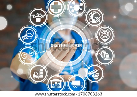 Distribution Medical Procurement Management Concept. Healthcare Hospital Pharmacy Goods Logistics Supply Chain. Royalty-Free Stock Photo #1708703263
