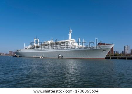 SS Rotterdam Cruiseship in the harbor of Rotterdam